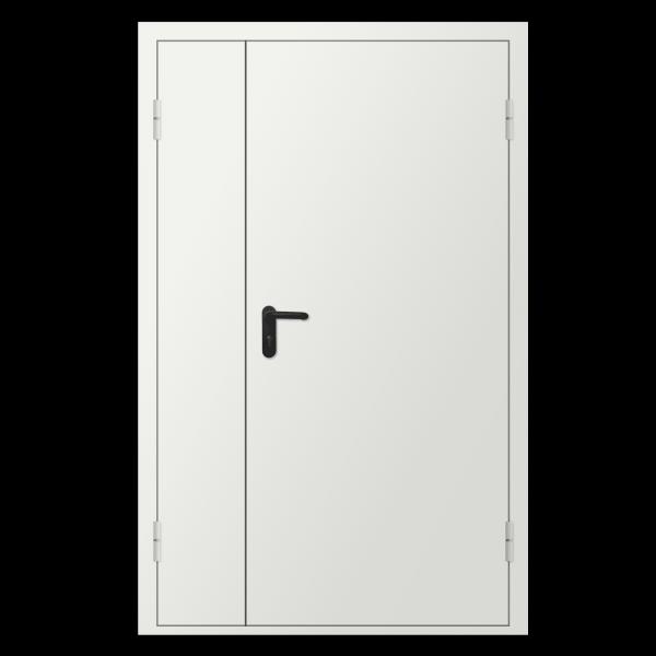 Дверь металлическая противопожарная двустворчатая EI30 ДМП 21-12 - 1