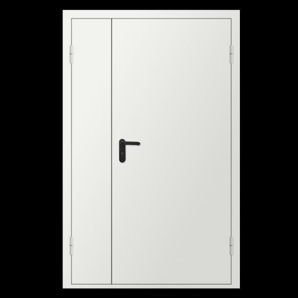 Дверь металлическая противопожарная двустворчатая EI30 ДМП 21-15 - 1