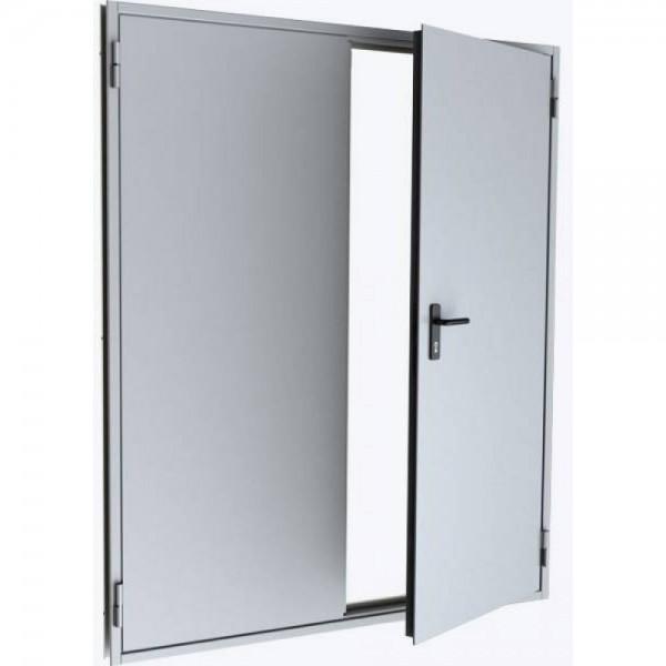 Дверь металлическая противопожарная двустворчатая EI45 ДМП 21-15.5 - 2