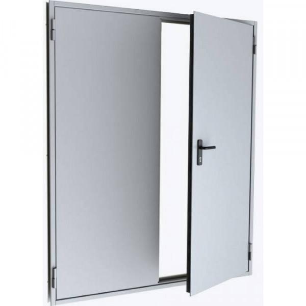 Дверь металлическая противопожарная двустворчатая EI45 ДМП 21-16 - 2