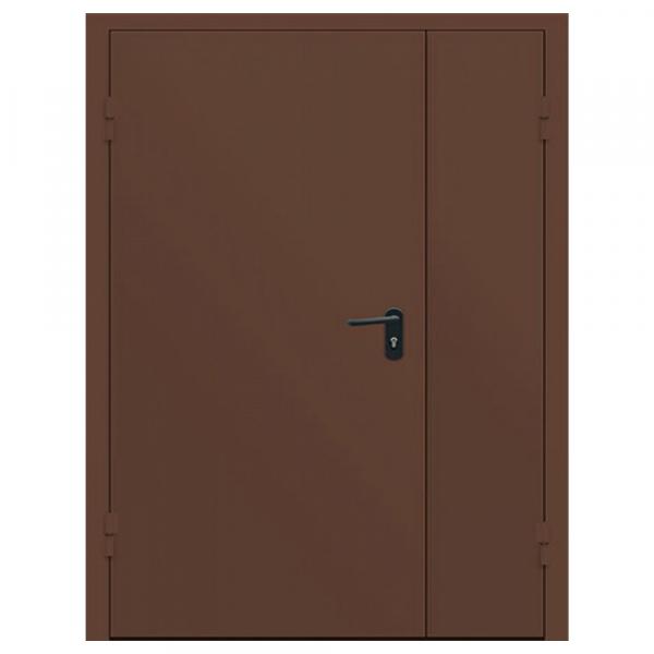 Дверь металлическая противопожарная двустворчатая EI45 ДМП 21-12.5 - 1