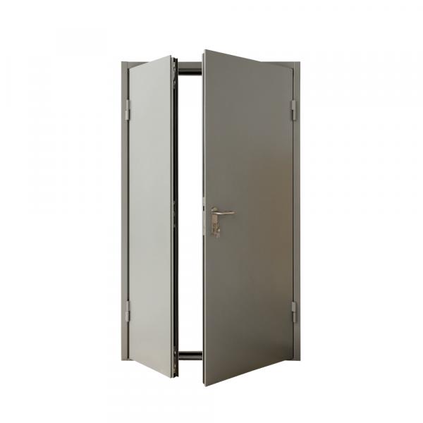 Дверь металлическая противопожарная двустворчатая EI45 ДМП 21-12.5 - 2