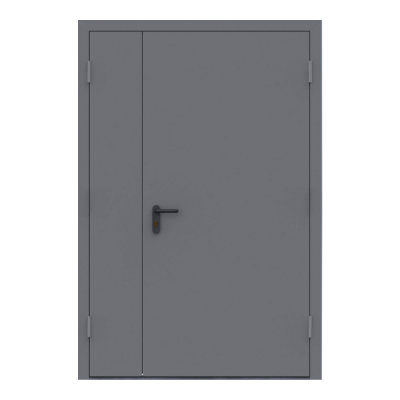 Дверь металлическая противопожарная двустворчатая EI60 ДМП 21-15