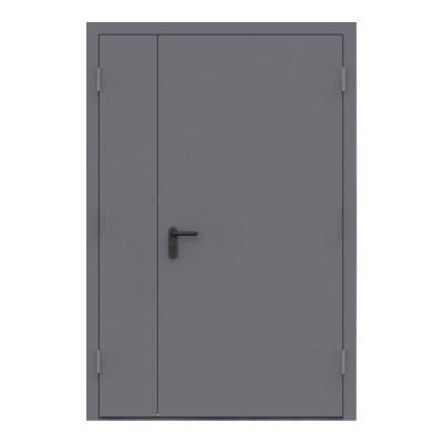 Дверь металлическая противопожарная двустворчатая EI60 ДМП 21-13.5