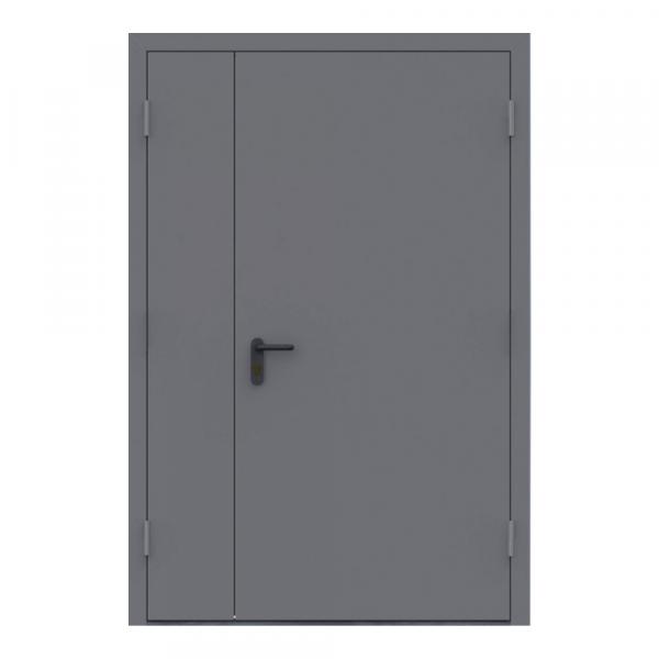 Дверь металлическая противопожарная двустворчатая EI60 ДМП 21-12.5 - 1
