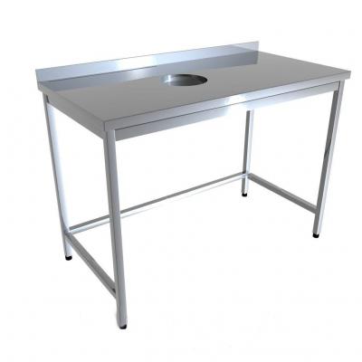 Стол промышленный с отверстием для отходов 4D01-4D19