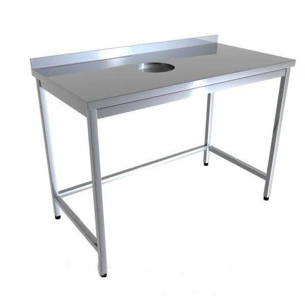 Стол промышленный с отверстием для отходов 4D01-4D19 - 1