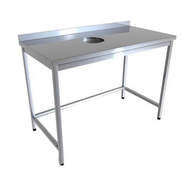 Стол промышленный с отверстием для отходов 4D21-4D31 - 1